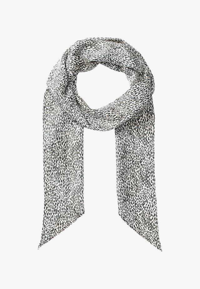 MIT MINI-LEO-PRINT - Sjaal - white/black