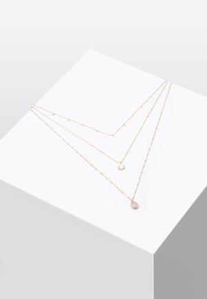 MIT HALBEDELSTEIN - Halskette - beige