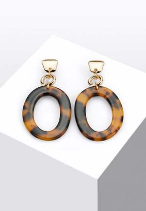 Earrings - black/brown