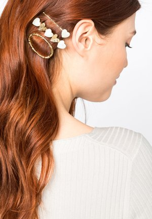 SET - Hair styling accessory - gold-coloured