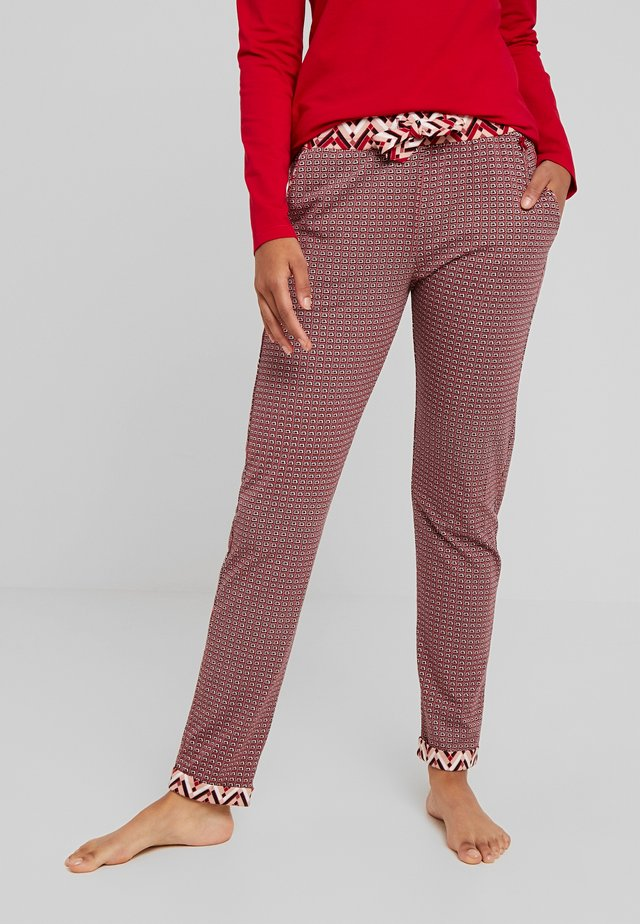PANTS LONG - Pyjamasbukse - red