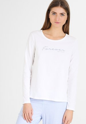 Pyjamashirt - white pebble