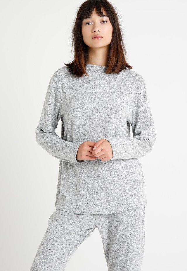 Pyjama top - pebble melange