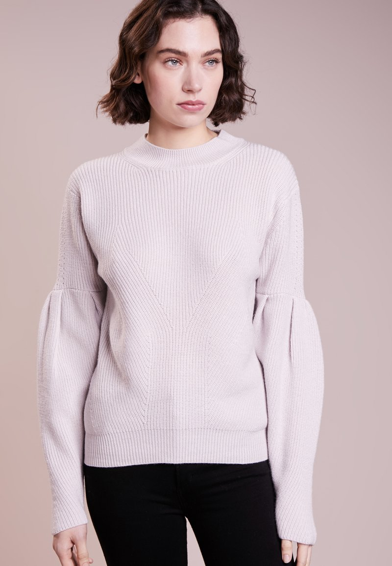 81hours Studio - RIBBED PUFF SLEEVES - Jumper - crystal powder