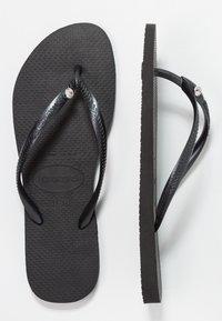 Havaianas - SLIM FIT CRYSTAL GLAMOUR - Klipklappere/ klip klapper - black - 0
