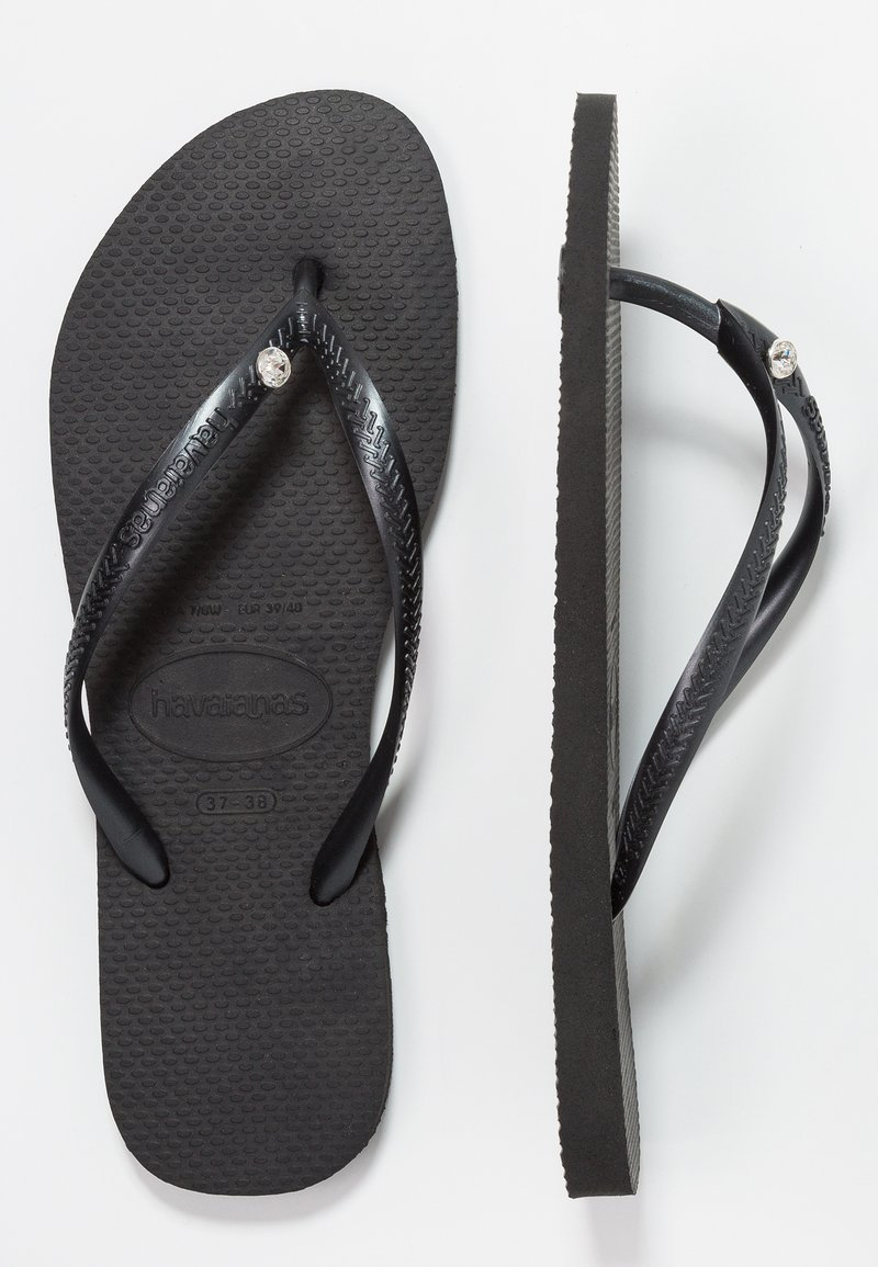 Havaianas - SLIM FIT CRYSTAL GLAMOUR - Klipklappere/ klip klapper - black