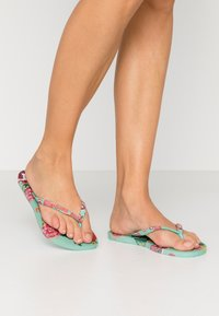 Havaianas - SLIM FIT SUMMER - Klipklappere/ klip klapper - green dew - 1