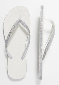 Havaianas - SLIM FIT SPARKLE - Flip Flops - white - 0