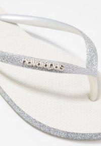 Havaianas - SLIM FIT SPARKLE - Flip Flops - white - 2