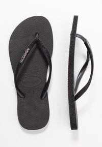 Havaianas - SLIM FIT SPARKLE - Infradito - black - 3