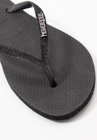 Havaianas - SLIM FIT SPARKLE - Infradito - black - 2