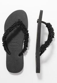 Havaianas - SLIM FRINGE - Sandaler m/ tåsplit - black - 3