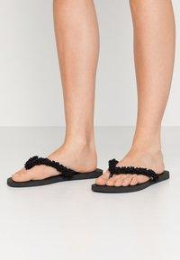 Havaianas - SLIM FRINGE - Sandaler m/ tåsplit - black - 0