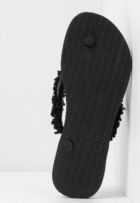 Havaianas - SLIM FRINGE - Sandaler m/ tåsplit - black - 6