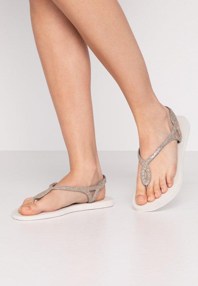 LUNA PREMIUM - Sandaler m/ tåsplit - white