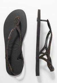 Havaianas - LUNA PREMIUM - Sandaler m/ tåsplit - black - 3