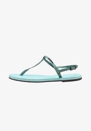 YOU RIVIERA CROCO  - T-bar sandals - sky blue