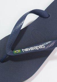 Havaianas - BRASIL LOGO - Japonki kąpielowe - navy blue - 5