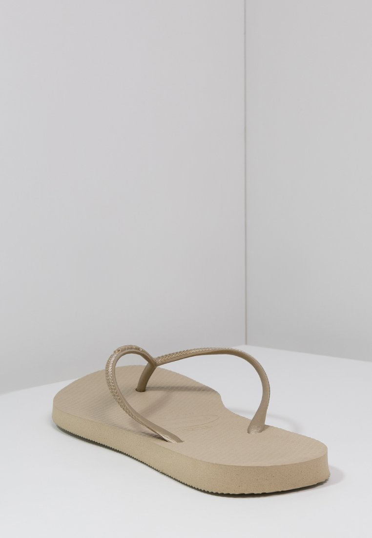 Havaianas SLIM FIT - Tongs - sand grey/light gold