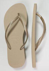 Havaianas - SLIM FIT - Badesko - sand grey/light gold - 0