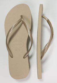 Havaianas - SLIM FIT - Pool shoes - sand grey/light gold - 3