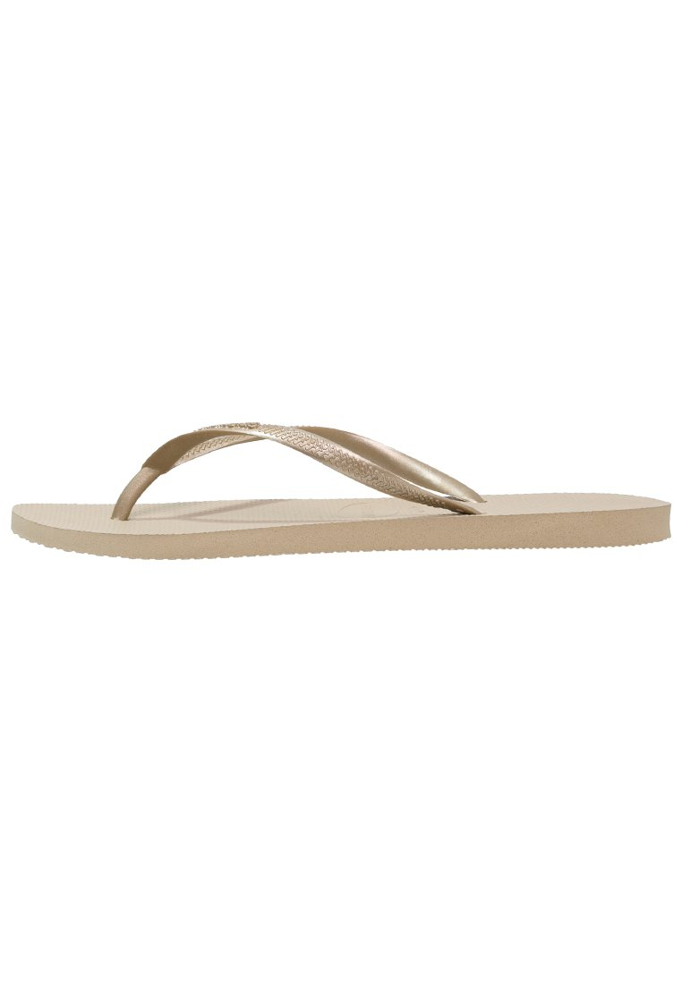 SLIM FIT Teenslippers sand greylight gold