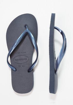 SLIM FIT - Chanclas de dedo - navy blue