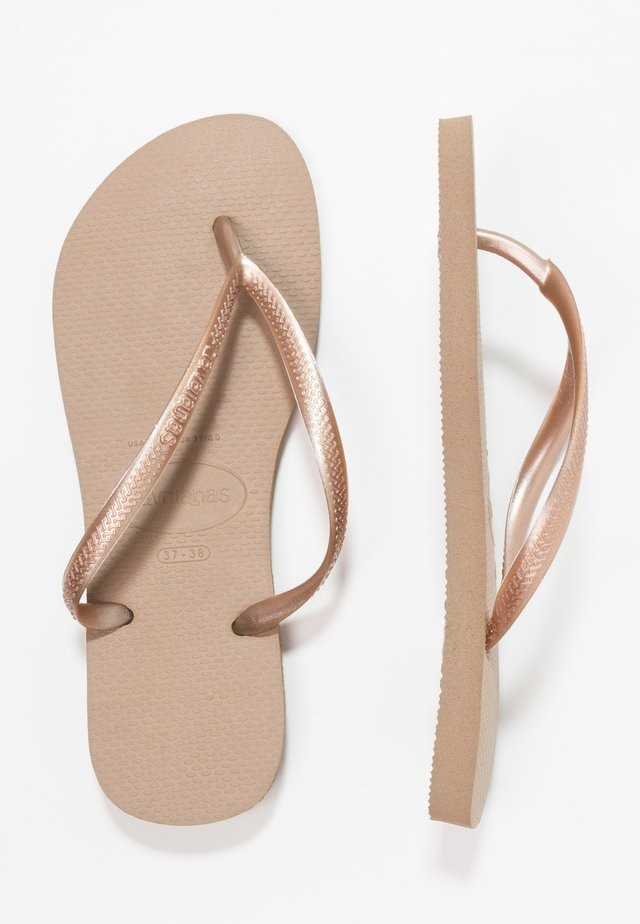 SLIM FIT - Pool shoes - rose gold