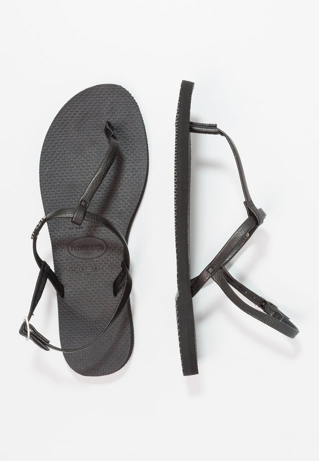 YOU RIVIERA - T-bar sandals - black