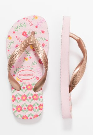 KIDS FLORES - Badesko - crystal rose/rose gold metallic