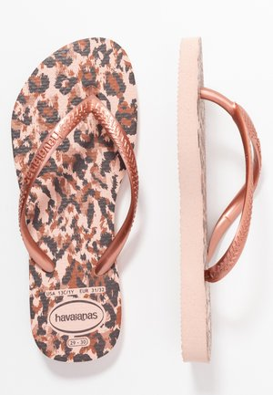 SLIM ANIMALS - Bade-Zehentrenner - ballet rose