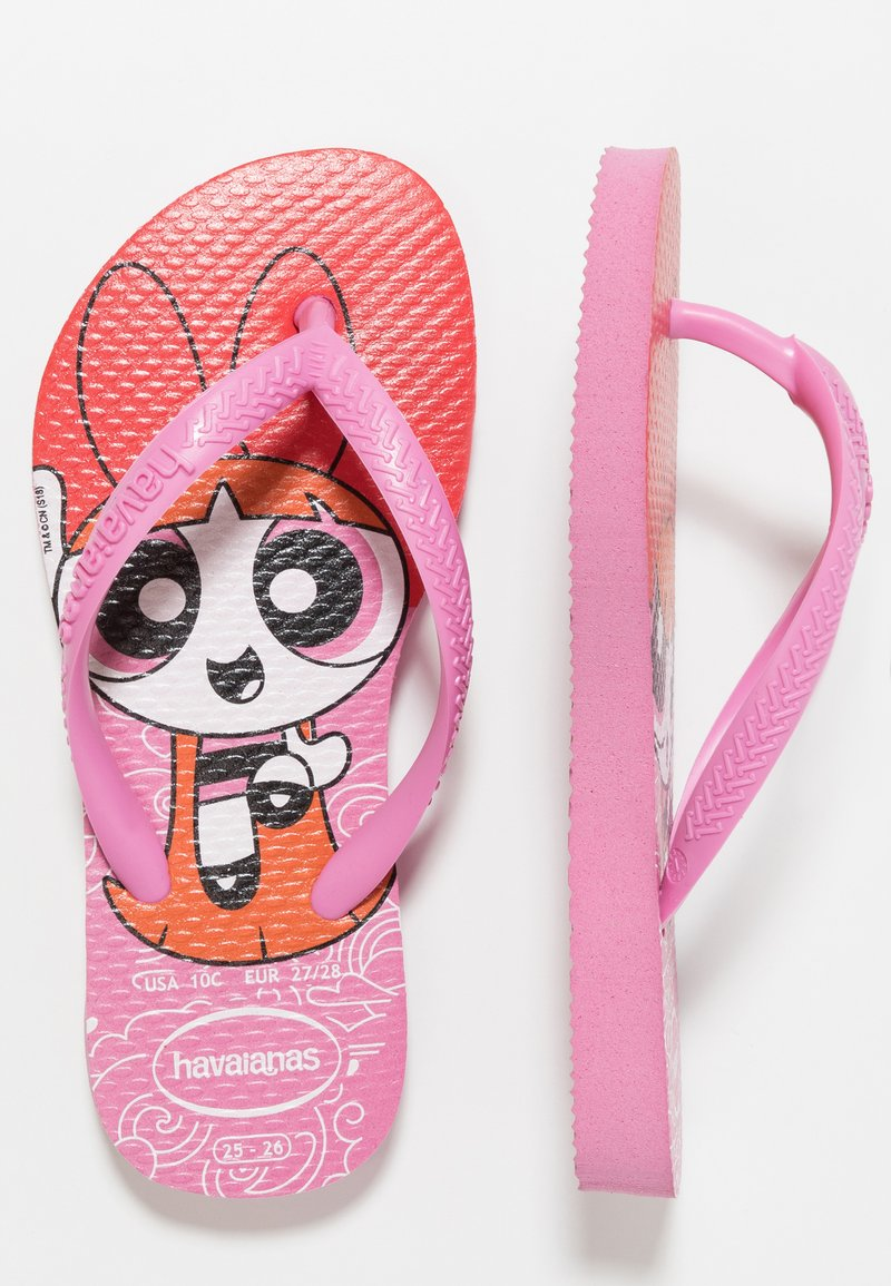 Havaianas - KIDS SLIM POWERPUFF GIRLS - Chanclas de dedo - lipstick rose