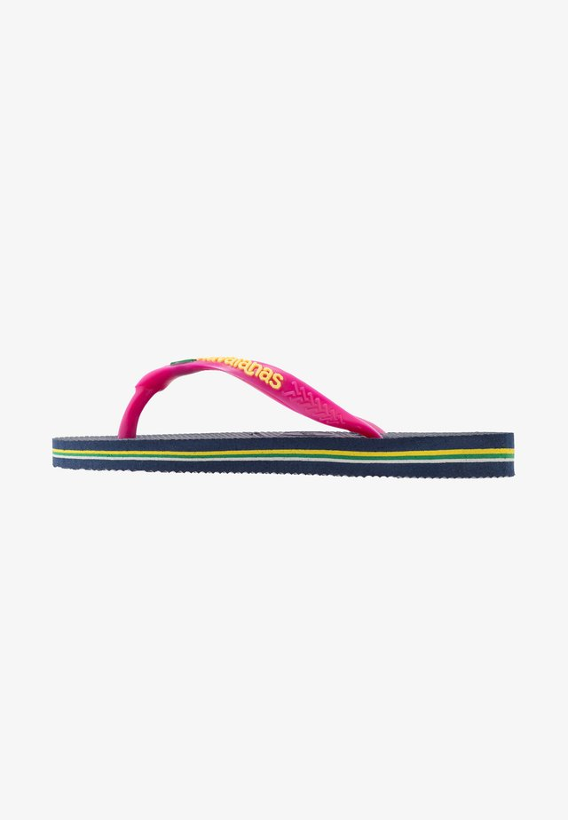 SLIM BRASIL LOGO - Pool shoes - navy blue