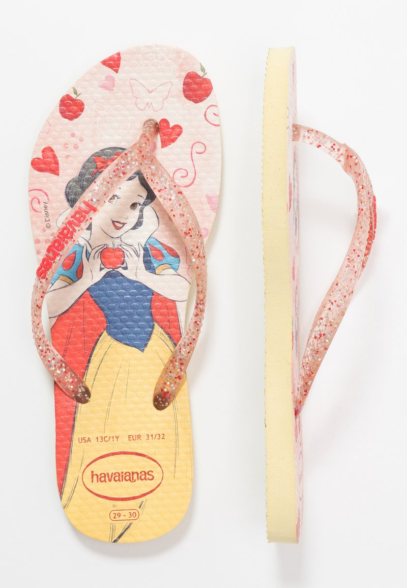 Havaianas - KIDS SLIM FIT PRINCESS - Klipklappere/ klip klapper - lemon yellow