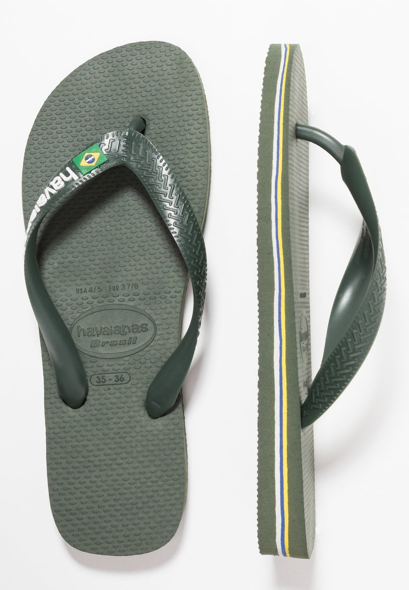 Havaianas - BRASIL LOGO - Pool shoes - green olive