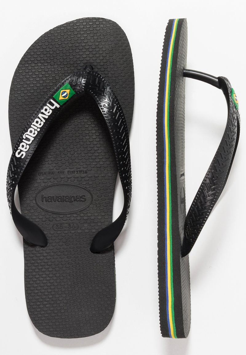 Havaianas - BRASIL LOGO - Pool shoes - black