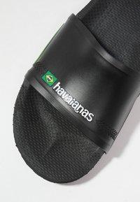 Havaianas - SLIDE BRASIL - Rantasandaalit - black - 5