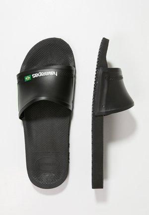 SLIDE BRASIL - Sandales de bain - black