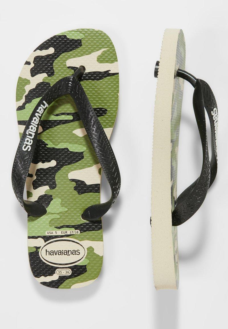 Havaianas - TOP CAMU - Pool shoes - beige/black