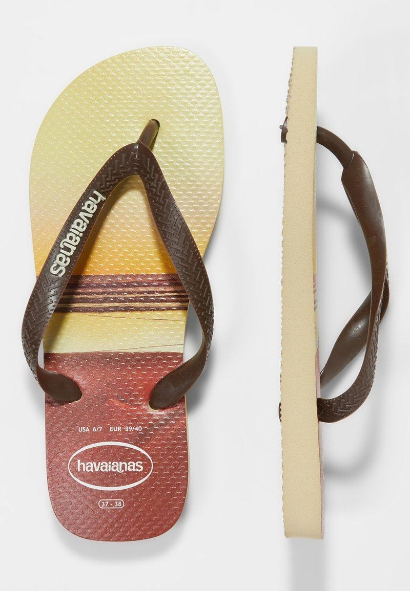 Havaianas - HYPE - Bade-Zehentrenner - sand grey/dark brown