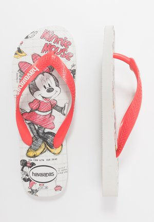 DISNEY STYLISH - Chanclas de dedo - white/coralnew