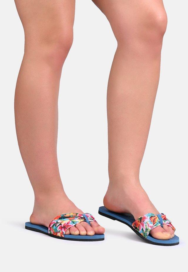 TROPEZ - T-bar sandals - blue
