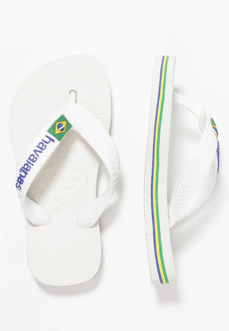 Havaianas - BRASIL LOGO - Infradito da bagno - white