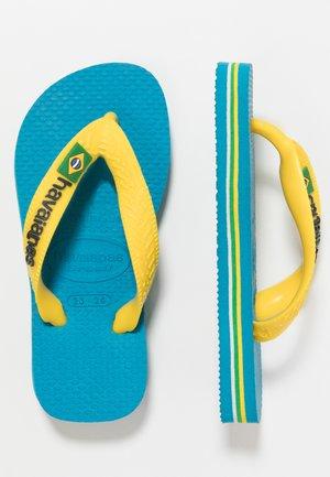 BRASIL LOGO - Klipklappere/ klip klapper - turquoise/citrus yellow