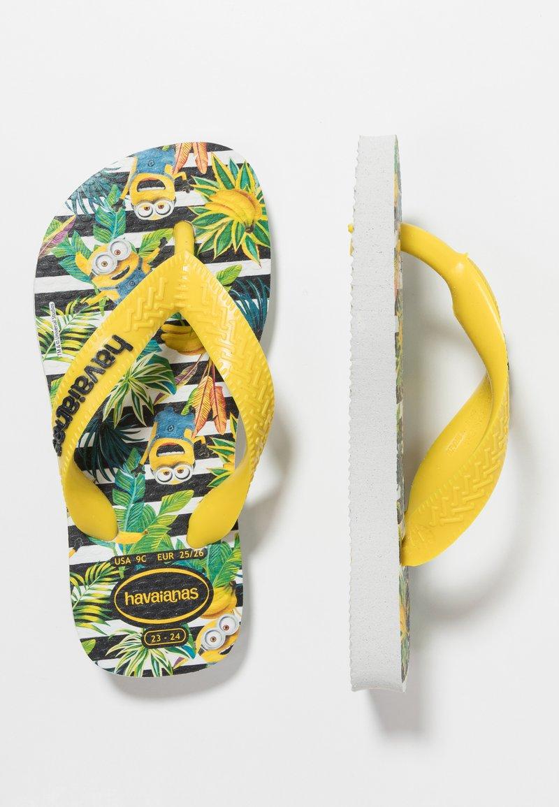Havaianas - KIDS MINIONS - Badsandaler - white/citrus yellow