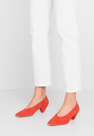 DOTTY - Classic heels - dark orange