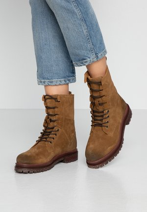 BLAIR - Lace-up ankle boots - caramel
