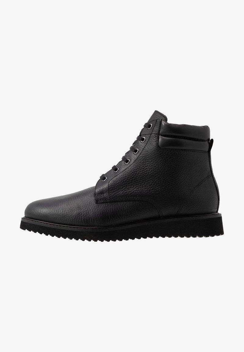 H by Hudson - XEROX CUFF BOOT - Bottines à lacets - black