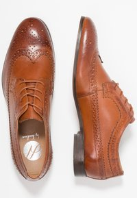 H by Hudson - CROWTHORNE - Elegantní šněrovací boty - tan - 1