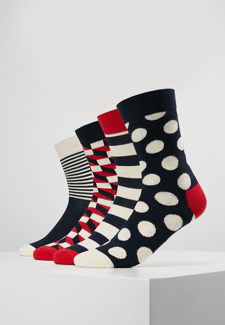 Happy Socks - DOT GIFT BOX 4 PACK - Sokken - navy